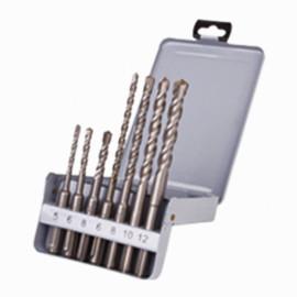 Coffret 7 pcs perçage béton 2 taillants D. 5 à 12 mm x Q. SDS+ - KA070070 - Labor
