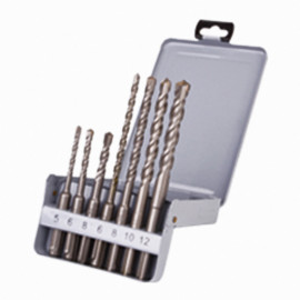 Coffret 7 pcs perçage béton 2 taillants D. 5 à 12 mm x Q. SDS+ - KA070071 - Labor