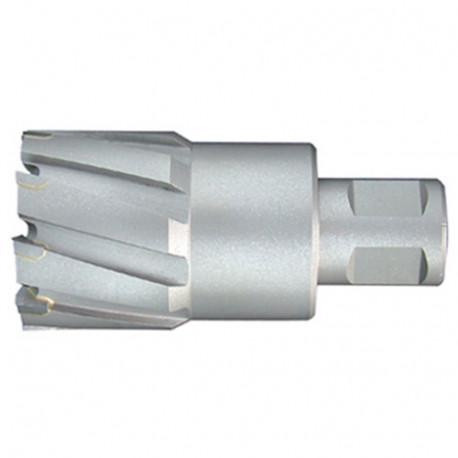 Fraise à métaux durs TCT carbure D. 38.0 x Lu. 50 mm x Q. WELDON pour perceuse magnétique - LT380500 - Labor
