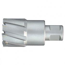 Fraise à métaux durs TCT carbure D. 45.0 x Lu. 50 mm x Q. WELDON pour perceuse magnétique - LT450500 - Labor